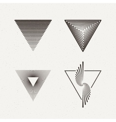 Triangles set Geometric vector image vector image