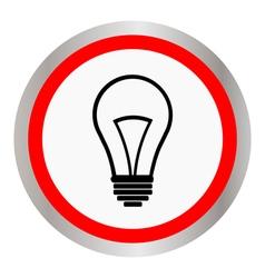 flat design bulb icon vector image vector image