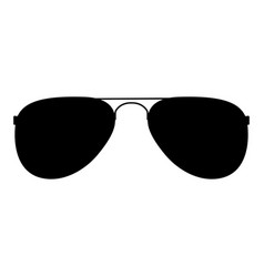 glasses the black color icon vector image vector image