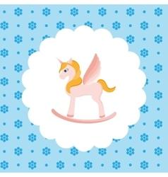 Rocking Horse Unicorn vector image
