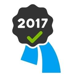 2017 Approve Award Flat Icon vector
