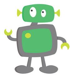 A cute little cartoon robot ready to execute its vector