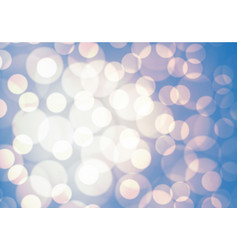 Abstract blue soft yellow light bokeh background vector