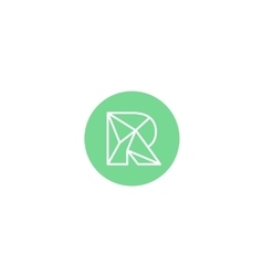 Abstract letter R logo design template Structure vector