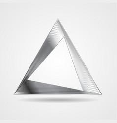 Abstract silver triangle logo design vector
