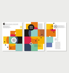abstract templates collection vector image