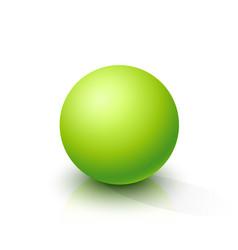 acid green sphere vector image