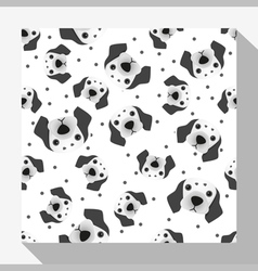 Animal seamless pattern collection with dalmatian vector