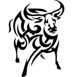 antelope in tribal style vector image