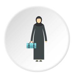 Arabic woman icon circle vector