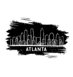 Atlanta usa skyline silhouette hand drawn sketch vector