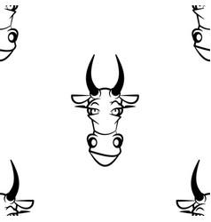 Background head cow vector