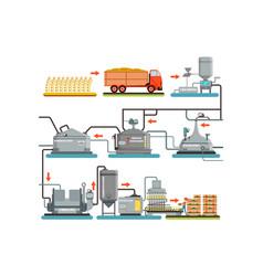 Beer brewing process production beer vector