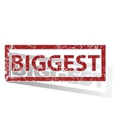 BIGGEST outlined stamp vector