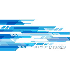 blue white geometric speed technology futuristic vector image
