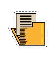 cartoon folder file document image vector image