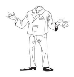 Cartoon image of headless businessman vector