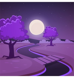 Cartoon Night Landscape vector