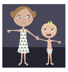 cartoon sister and brother vector image