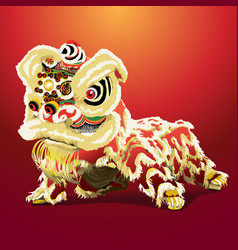 Chinese lion cartoon vector