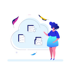 cloud computing - modern flat design style vector image