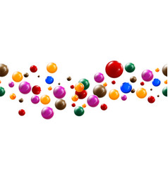 colorful glossy balls background vector image