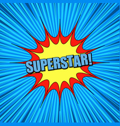 comic blue explosive super background vector image