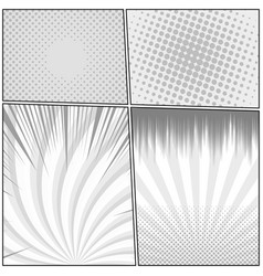 Comic monochrome design template vector