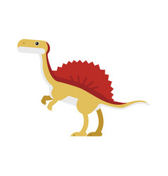 cute cartoon ankylosaurus dinosaur prehistoric vector image