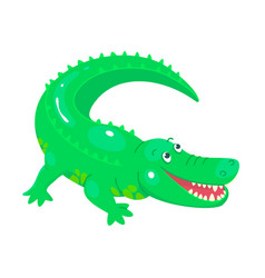Cute cartoon crocodile for children graphics vector