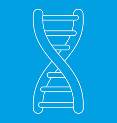 Dna icon outline style vector