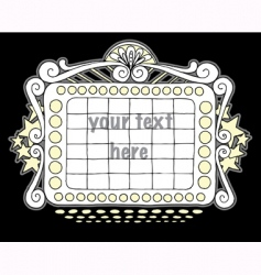 doodle marquee black vector image