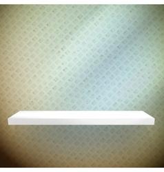 Empty white shelves on light blue vector