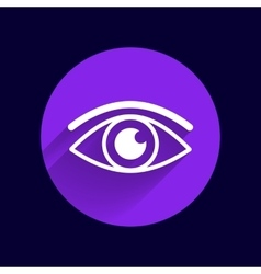 Eye icon vision symbol look graphic vector image