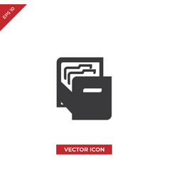 file folders icon vector image
