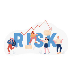 Financial risk and economy crisis concept vector