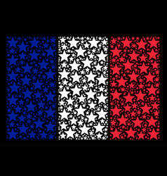 France flag mosaic of fireworks star icons vector