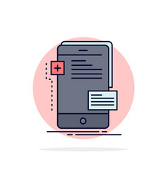 Frontend interface mobile phone developer flat vector