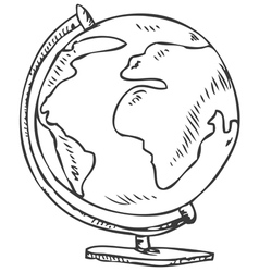 Globe doodle vector image