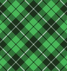 Green tartan fabric texture diagonal little vector