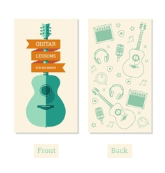 Guitar lessons vector image