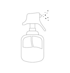Hairdressing dispenser bottle vector