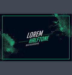 Halftone background in turquoise color vector