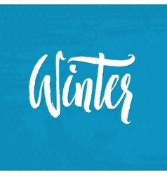 Hand drawn calligraphy winter handlettering vector
