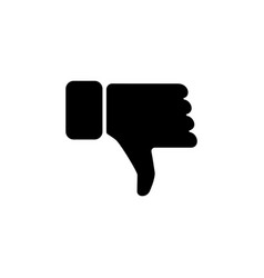 Hand with thumb down icon vector