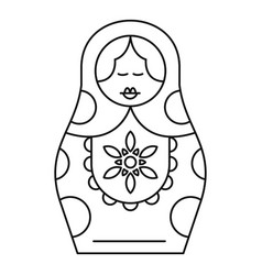 handmade nesting doll icon outline style vector image