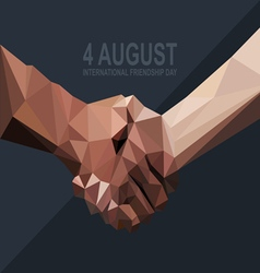 Happy friendship day card 4 august vector