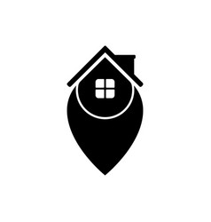 house point logo template design and support icon vector image