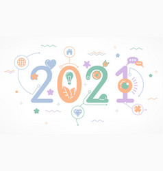 Infographic concept 2021 year vector