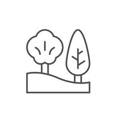landscape design line outline icon vector image